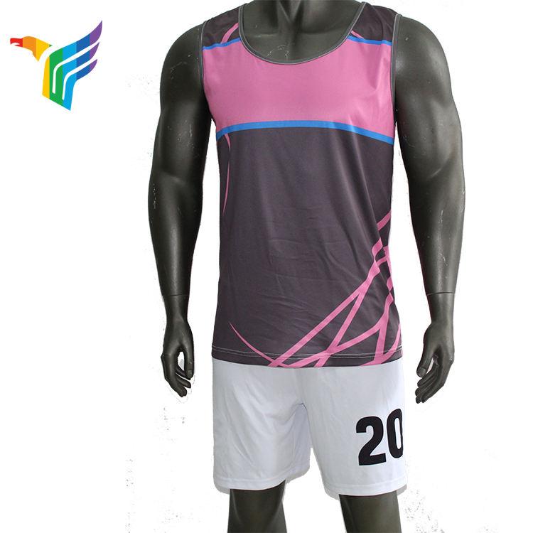 Заводская цена влаги влагу печать Спорт бег тренажерный зал синглетного для мужчин