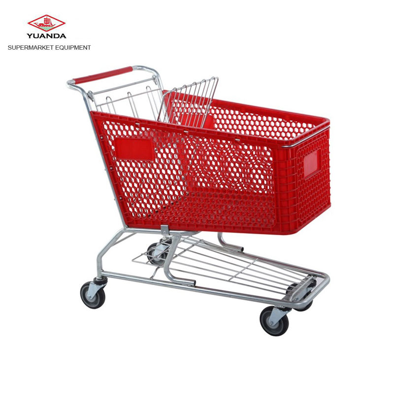 Large model plastic supermarket shopping trolley