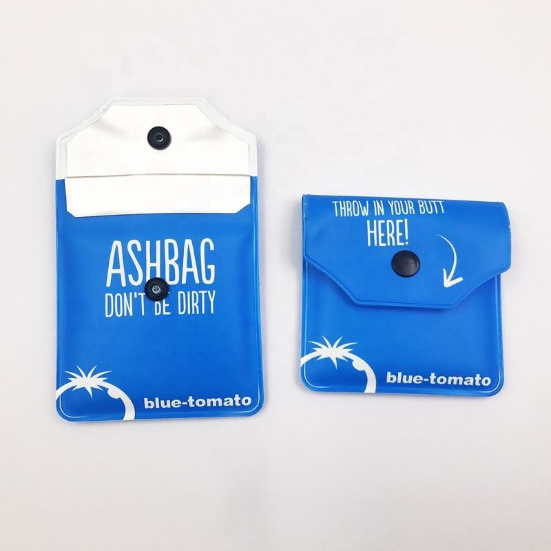 Mini Travel Carry Disposable Aluminium Foil Pockets Ashtray Pouch
