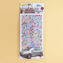 Colorful 3D crystal stickers car and phone stickers home decorating diamond rhinestone self-adhesive scrapbooking stickers
