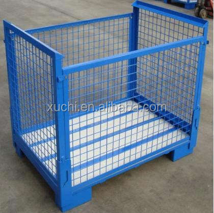 lockable pallet box/equipment collapsible storage cage