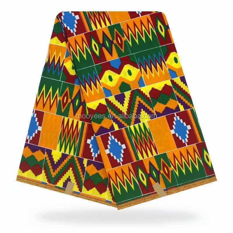 2019 guangzhou hot sell nigeria ghana kente design wax print fabric for garment