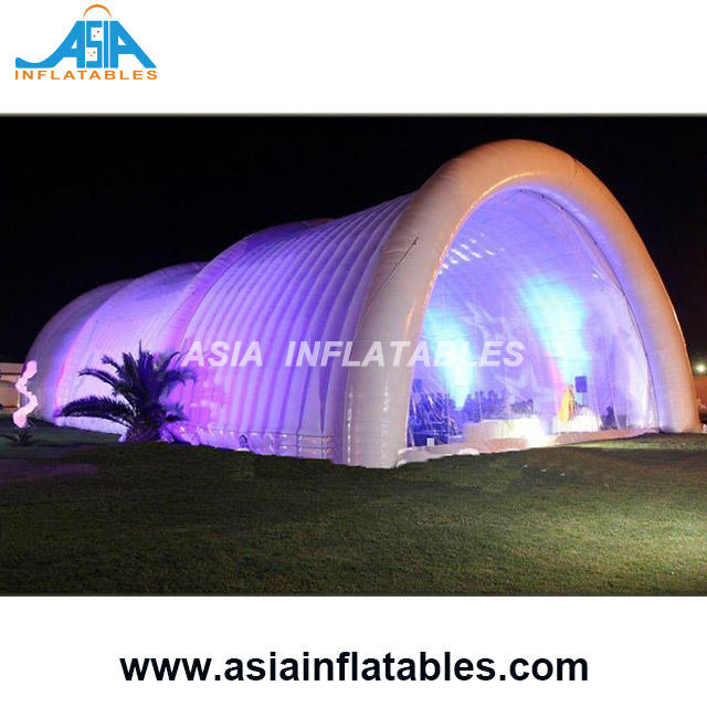 Cheap Party Tents Hot Sale Inflatable Stage Tunnel Event Tent Led Arch Tent