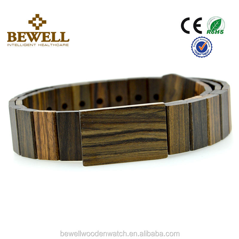 Hand made fashion belt wooden belt with engraved logo custom