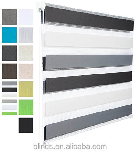 Manufacturer directly sell Motorized Office Zebra blinds with Accessories For Window and Door