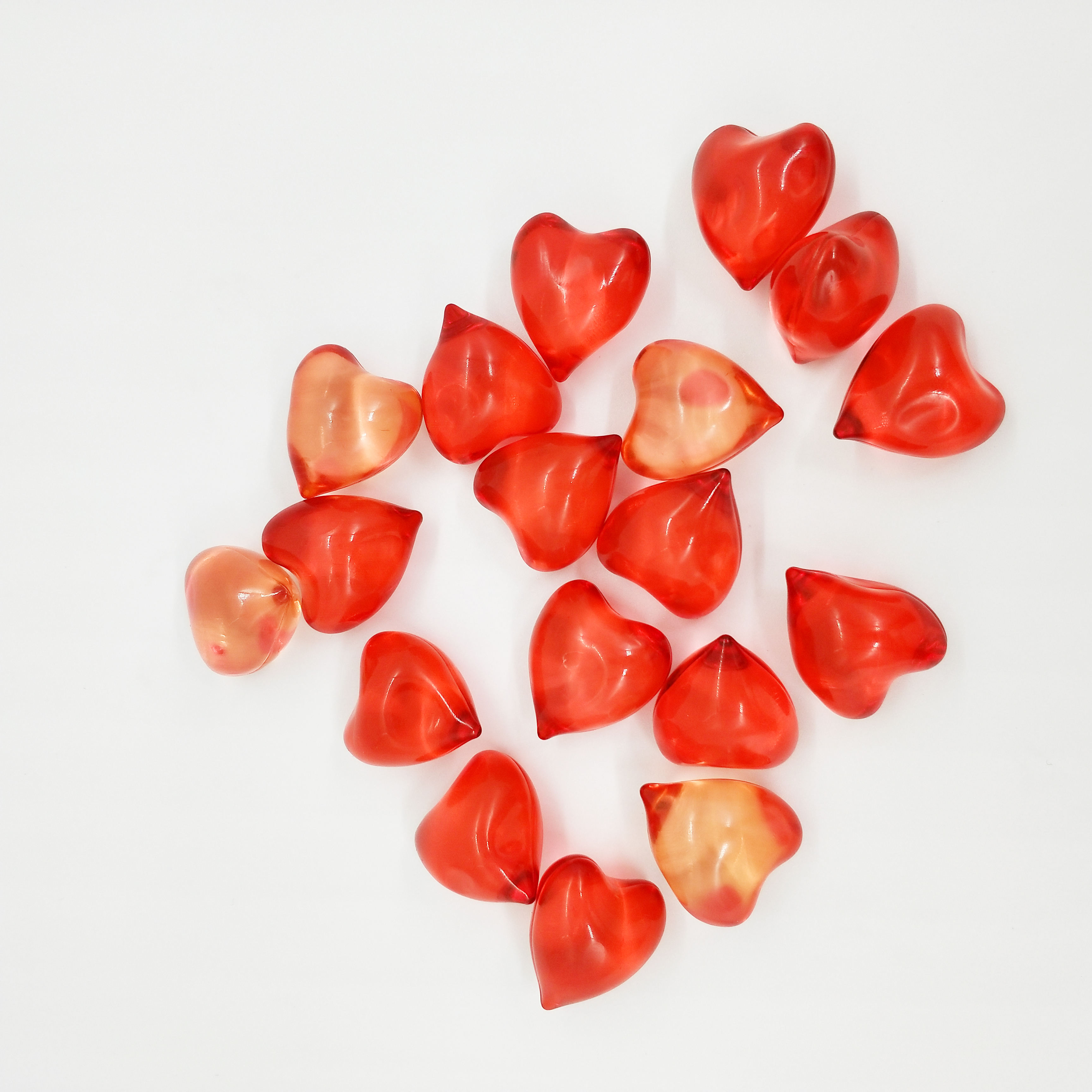 Heart shaped bath oil capsule beads with several kinds of parfume-585515
