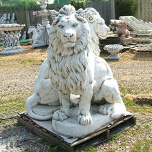 Factory wholesale custom size and color lion marble stone lion