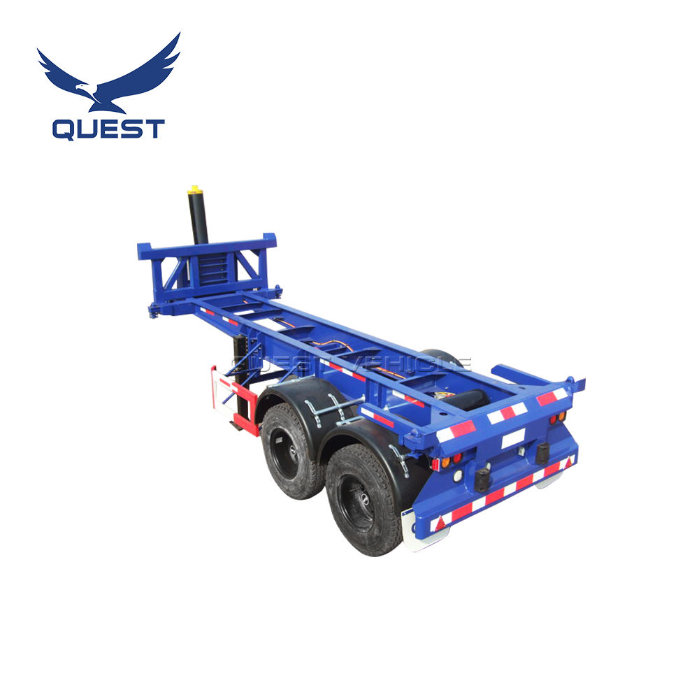 Quest 20ft tipper trailer dump container hydraulic cylinder trailer / semi-trailer dump truck chassis