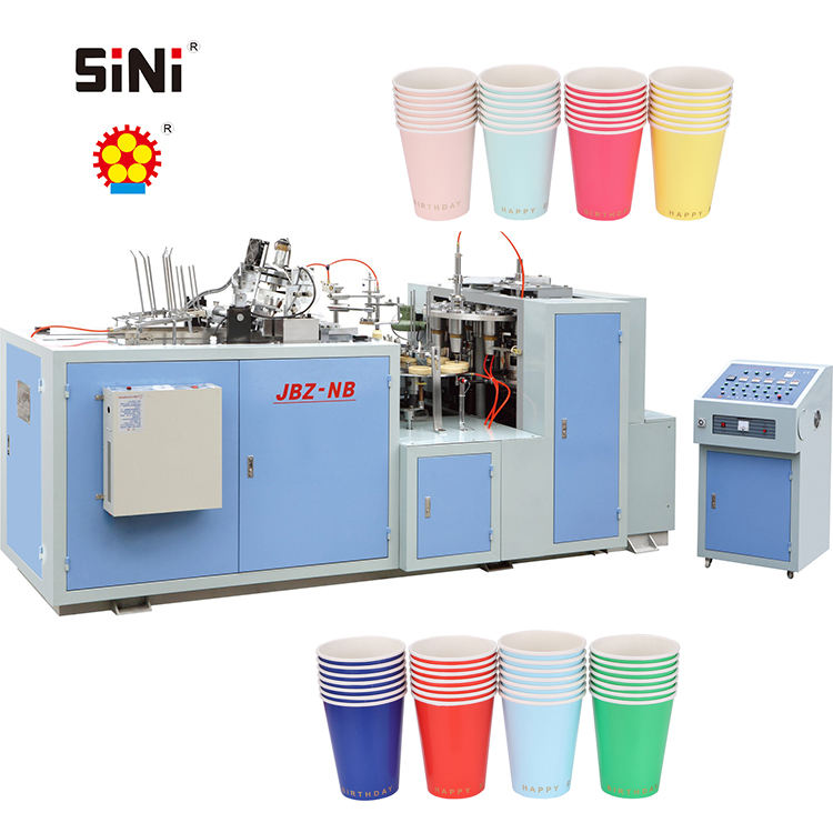 JBZ-NB High quality disposable paper coffee carton cup making machine with lowest price