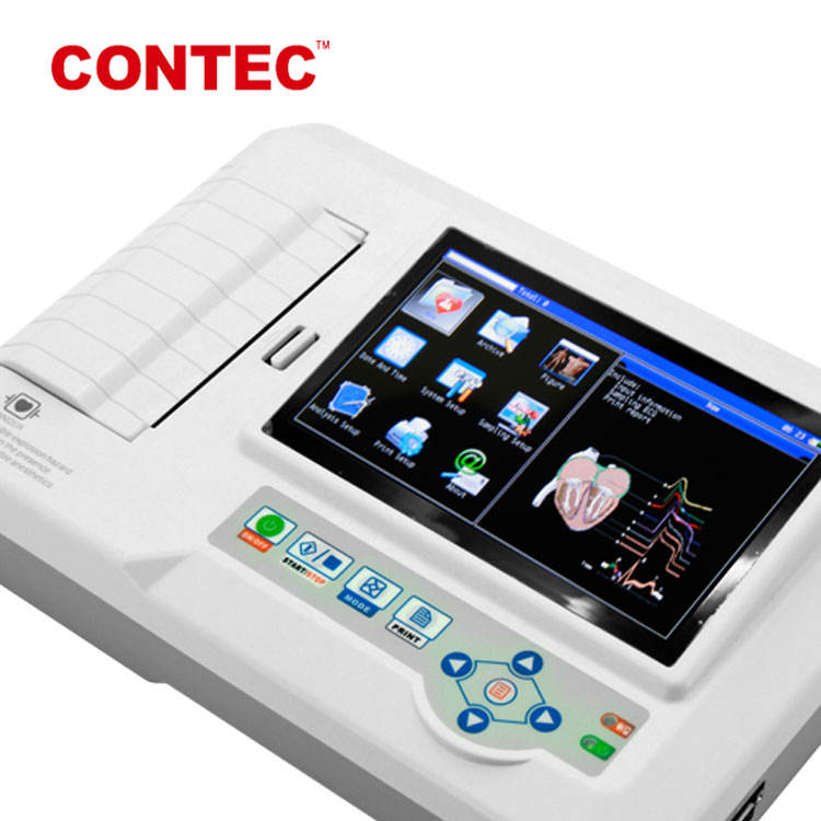 CONTEC CE ecg-600g digital 3/6 channel ecg 3channel digital ecg