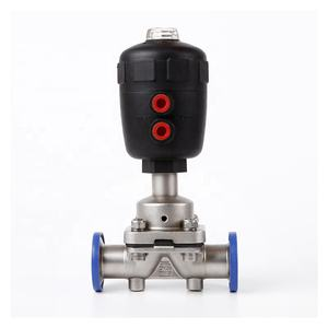 Sanitary Stainless Steel SS316L MiniI Type Diaphragm Valve With Pneumatic Actuator