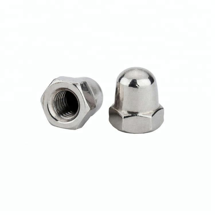 Nickel Plated DIN1587 Hex Domed Nuts
