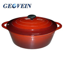 Enamel cast iron cookware sets cooking pot /Oval Stew Pot