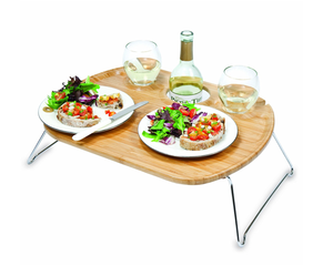 Hot Sale Portable and foldable Wine table or snacks desk mini bar table in Amazon