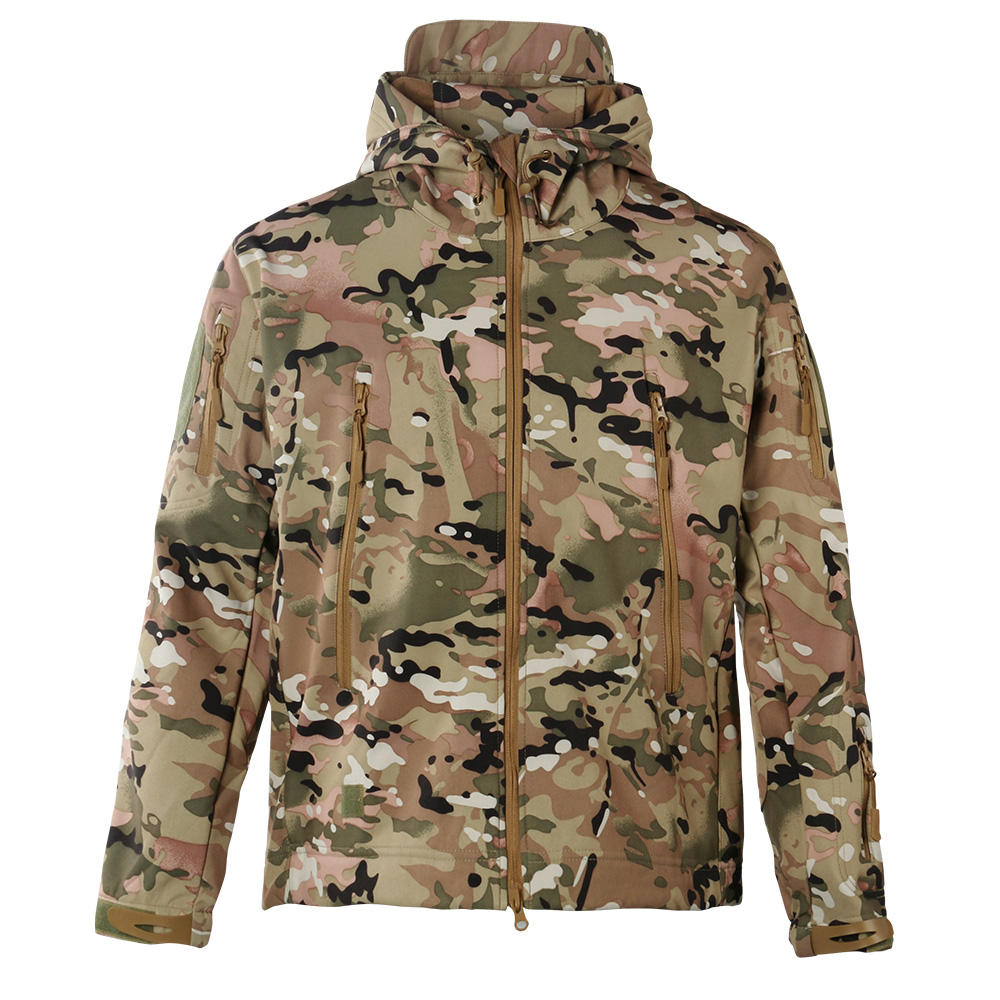 Camouflage Stijl Softshell Winter Jas Softshell Jas Softshell