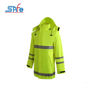 Factory price hi vis reflective raincoat reflective jacket streetwear motorcycle for man