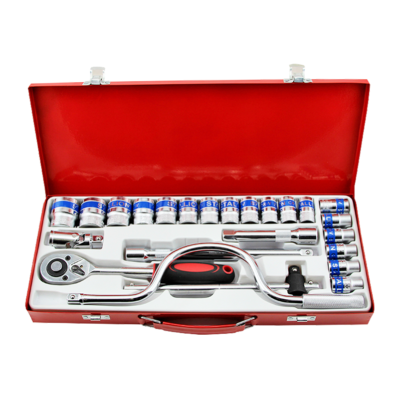 "1/2""DR 24PCS High Quality Metal Box Socket Tool Set Mechanical Tool Set"