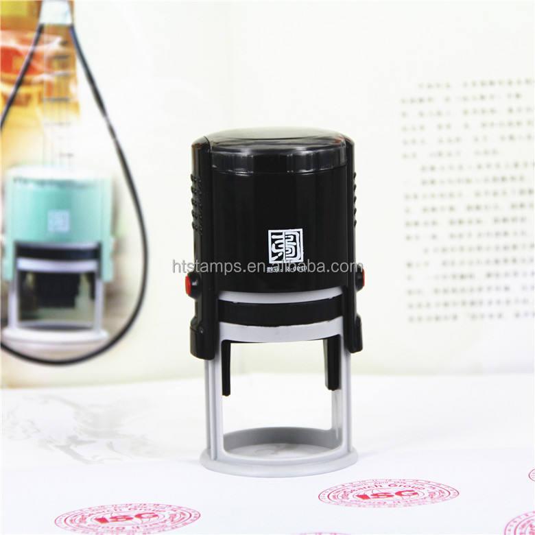 自己epressブランドラウンド40mm熱い販売のゴム製の学用品オフィスのセルフインキングスタンプ