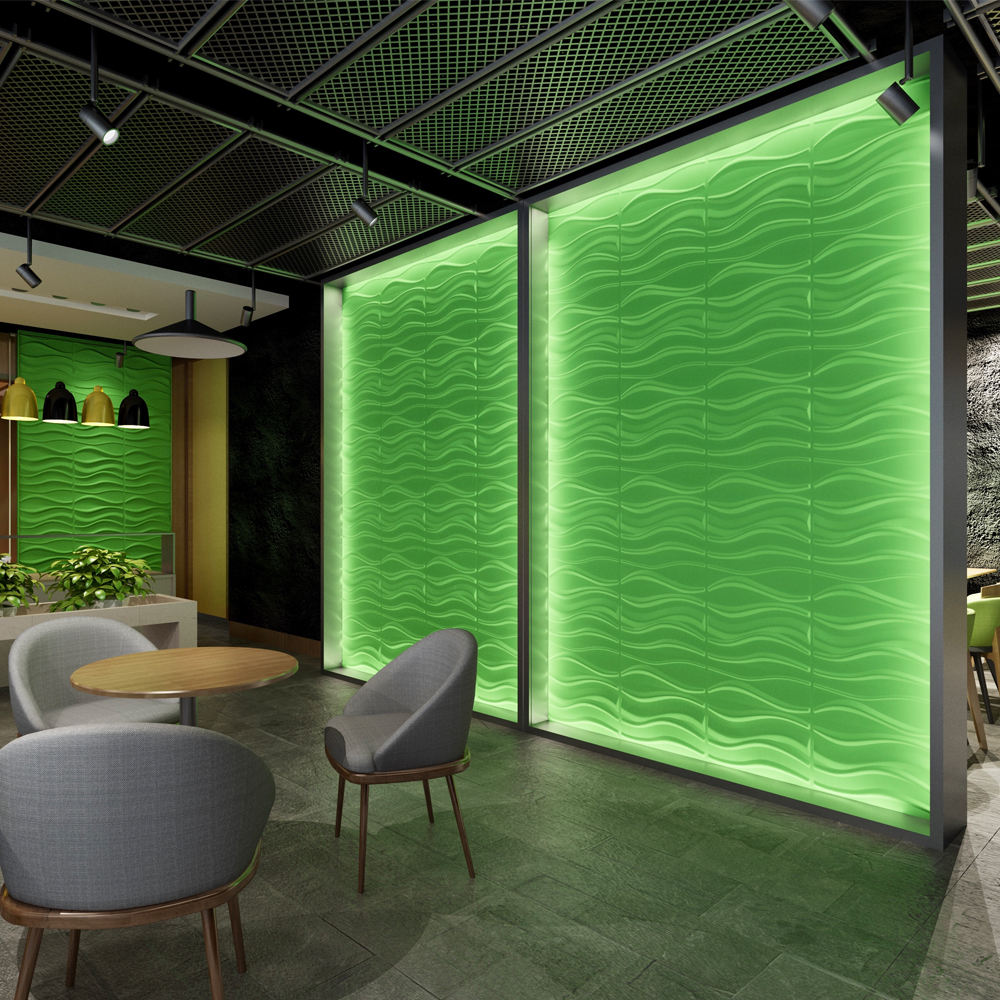European market pvc interior panel 3d wave special designs decorative material for walls