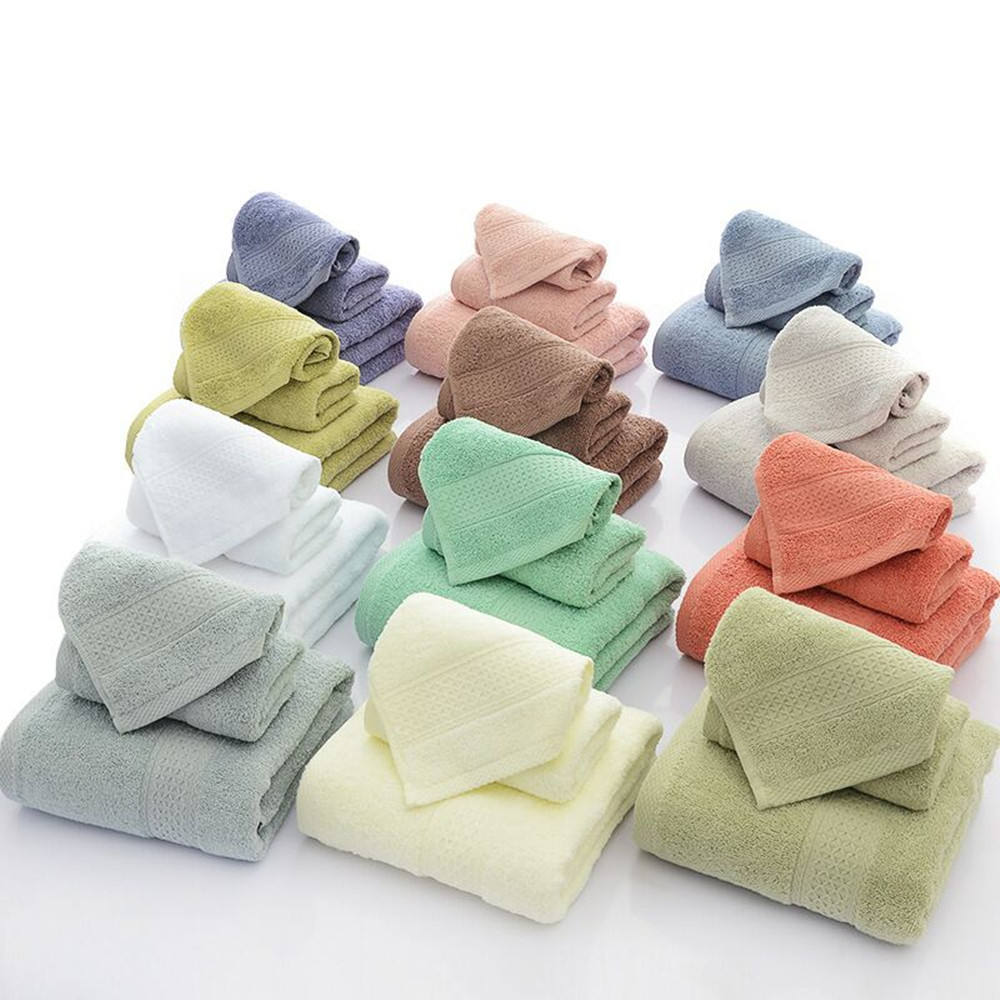 Gold Supplier Top Grade Full Colors Dobby Jacquard Cotton Terry Towel Sets
