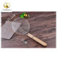 4-Inch and 6-Inch Asian Stainless Steel Spider Skimmer Strainer with wood Handle