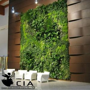 Verde jardín planta falsa artificial pared hecho en China