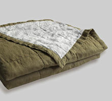 100% linen bed quilt two colors summer quilt