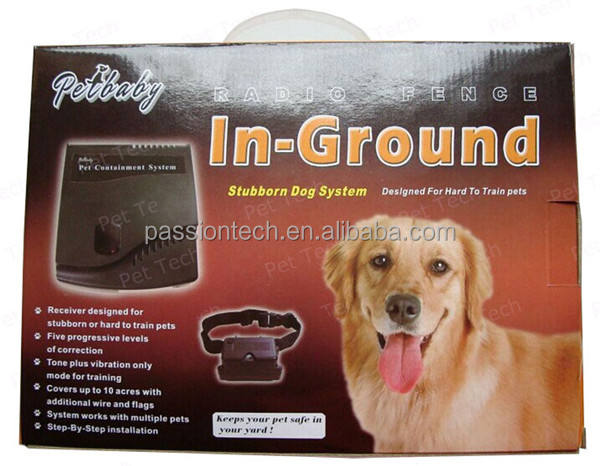 Hot Underground Electric Dog Fence System Waterproof 2 Shock Collars for 2 Dogs