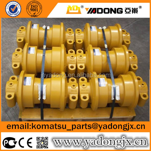 Bulldozer track roller D65 D85 D155 with double flange | D65 D85 D155 bottom roller for bulldozer undercarriage parts