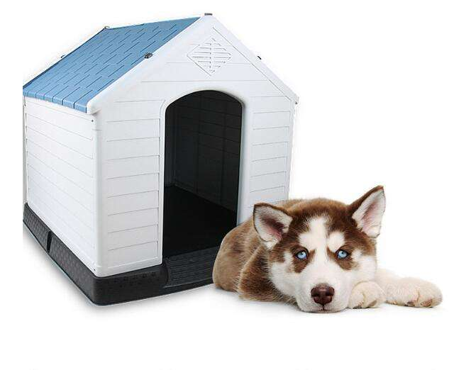 Pet House XL Large Weatherproof Outdoor Durable Animal Shelter New Plastic Dog Kennel