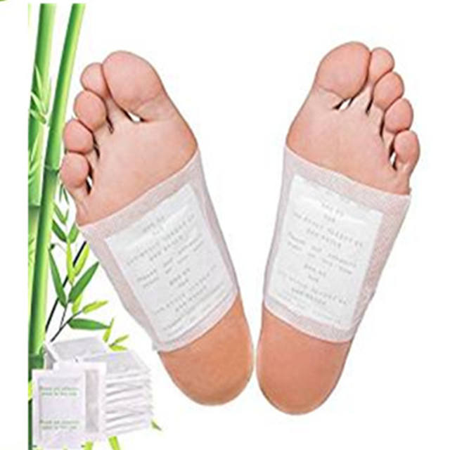 Bamboo detox foot patch with adhesive is the best Chinese herb foot detox pad