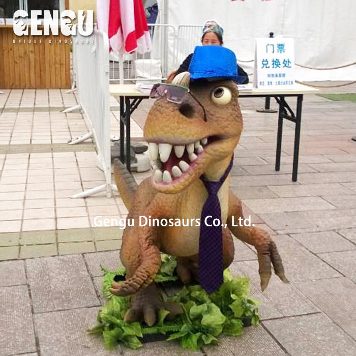 Cartoon Dinosaurier Attraktion Modell Glückliche Dino