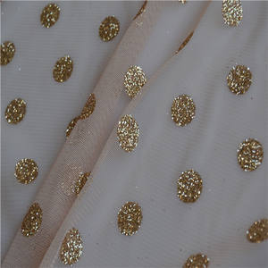 Tulle organza Fabric glitter spray for wedding dress