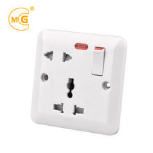 Home electrical 2pin 3pin universal sockets and switch