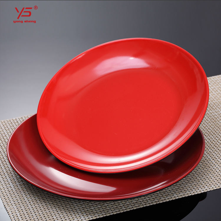 Multi color 100% melamine white plates square,party plates frozen,microwave 9 inch luncheon plates red