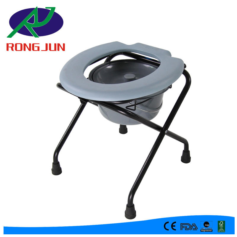 Folding Commode Chair toilet stool toilet chair stool for elderly RJ-C897