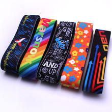 New Fashion Sublimation Custom Logo Adjustable Elastic Goggle Strap Wholesale
