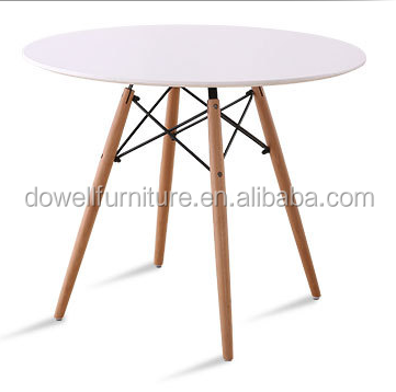 Wood Leg 80 Round MDF Dining Table