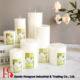 Handmade Colorful scented pillar candles