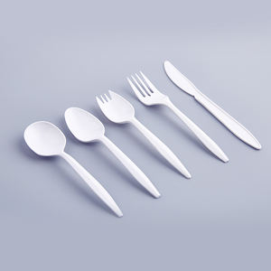 Peso medio PP eco-friendly di plastica pieno set di posate di plastica cucchiaio forchetta coltello made in china