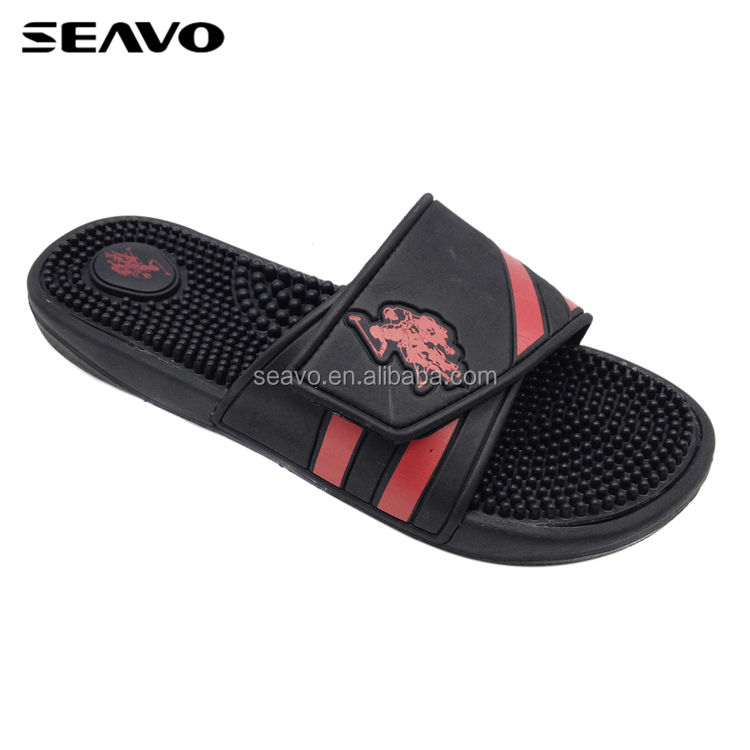 SEAVO red adjustable upper design japanese health eva sole men massage slippers