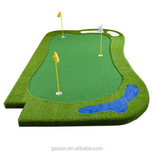 Personalizado mini golf putting green & mini campo de golfe 18 buracos