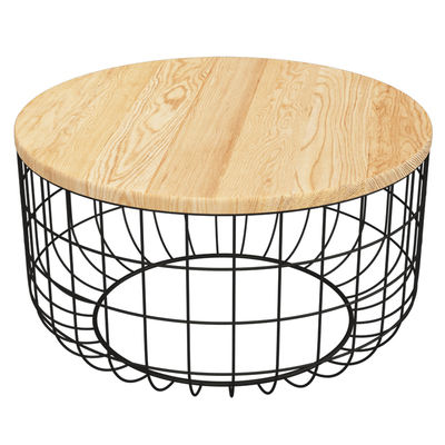 Wire Basket Bottom Tables Coffee Table