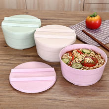 Ecofriendly wheat straw bowl with lid for noddles and soup