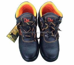Low price security cow leather cheap industrial stylish work safety shoes