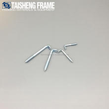 L screw hooks for picture frame hanging