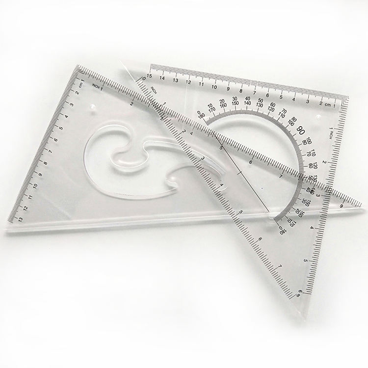 TR2517 plastic set square triangle ruler