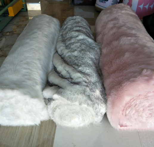 Hot sale long fur faux sheepskin fur fabric fake sheepskin fur rolls
