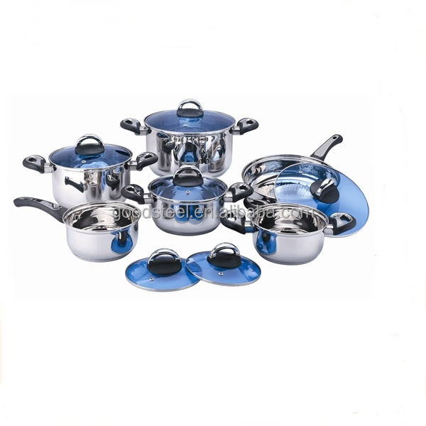 Mexico 12pcs stainless steel cookware set royal prestige induction cookware MSF-3255