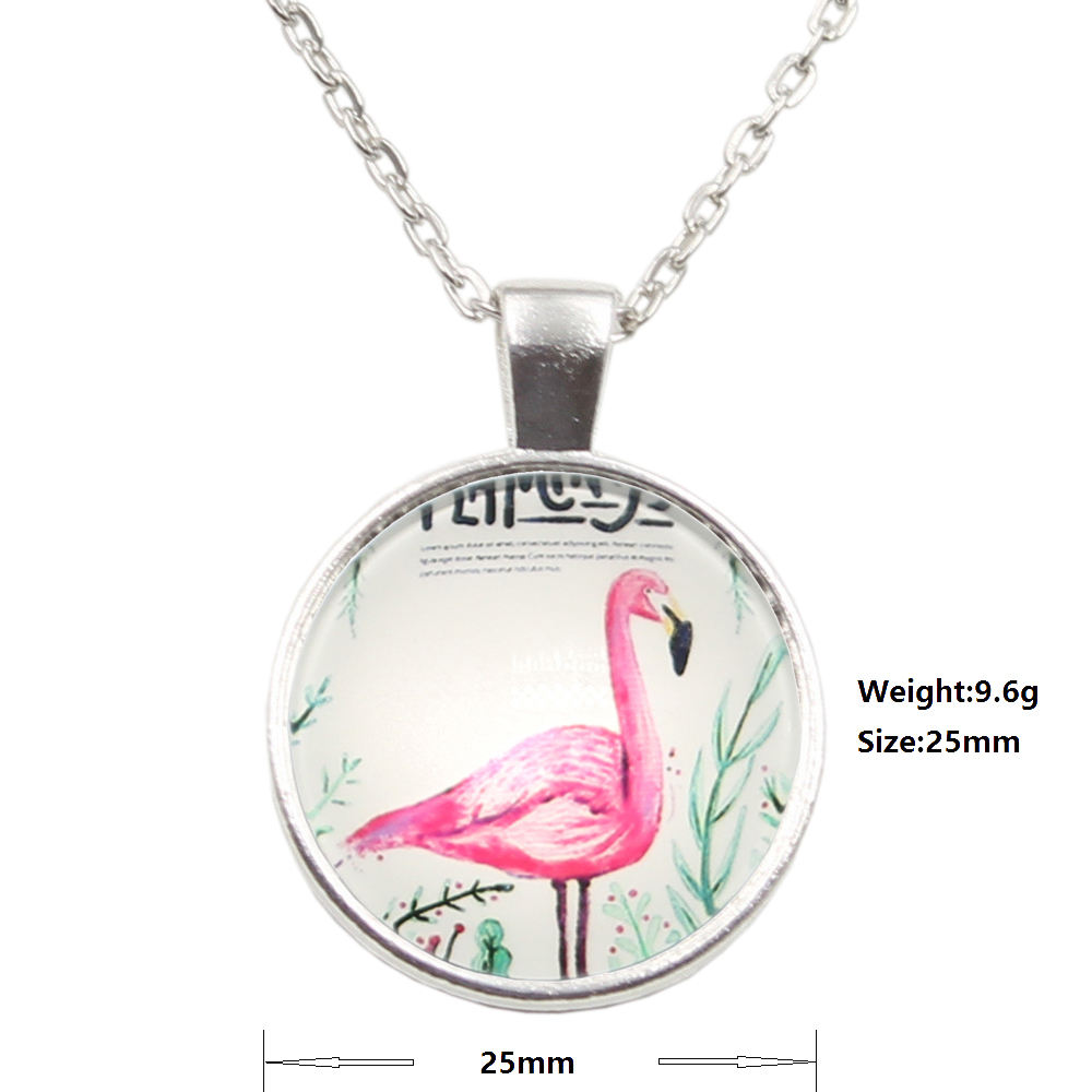 Dames Korte Lange <span class=keywords><strong>Ketting</strong></span> Sieraden <span class=keywords><strong>Ketting</strong></span> Crystal flamingos crane strand Cabochon Hanger <span class=keywords><strong>Ketting</strong></span> Voor Meisjes Gift